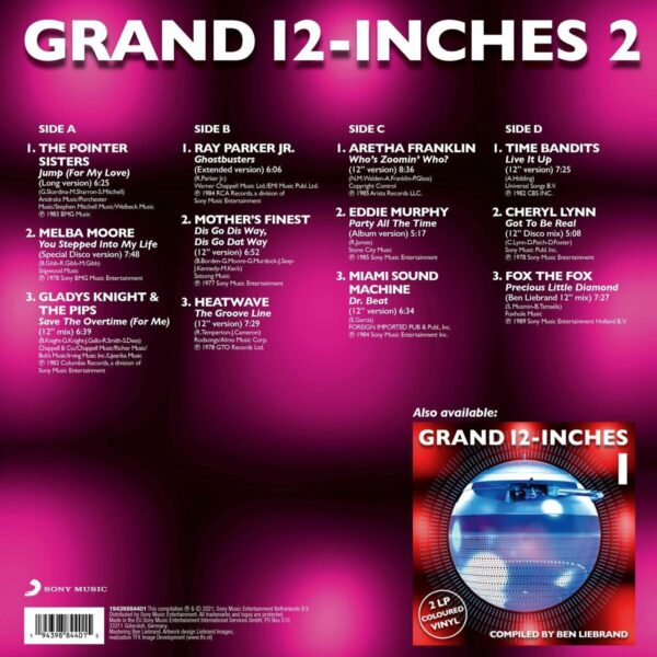 Grand 12 Inches 2 LP back